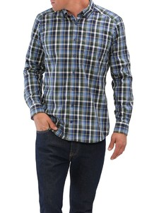 Maerz Button Down Check Willow Green