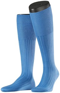 Falke No. 13 Finest Piuma Cotton Knee High Linen Blue