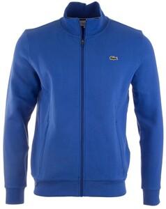 Lacoste Cotton Sports Waistcoat Cardigan Cobalt Melange