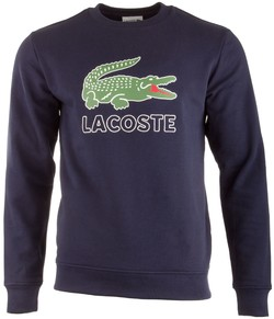 Lacoste Crocodile Logo Sweater Trui Navy