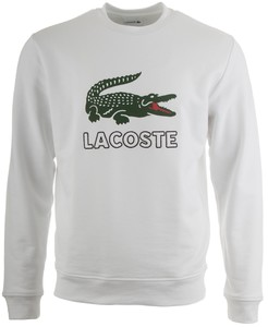 Lacoste Crocodile Logo Sweater Trui Wit