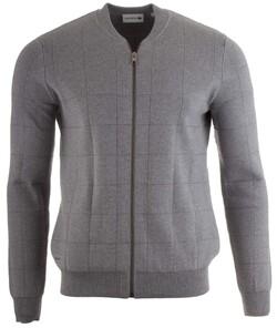 Lacoste Fancy Stitch Cotton Waistcoat Cardigan Silver
