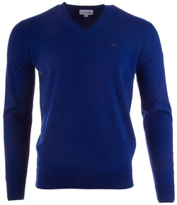 Lacoste Pure Wool V-Neck Pullover Methylene