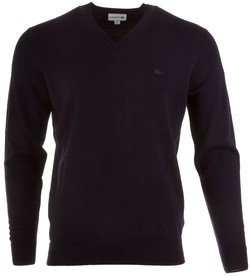 Lacoste Pure Wool V-Neck Pullover Navy
