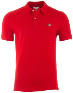 Lacoste Slim-Fit Piqué Polo Polo Rood