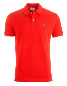 Lacoste Slim-Fit Piqué Polo Poloshirt Etna Red