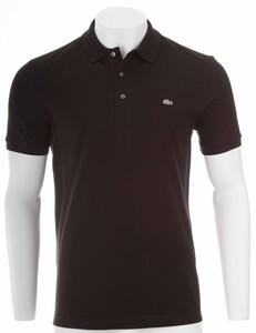Lacoste Stretch Slim-Fit Mini Piqué Poloshirt Black