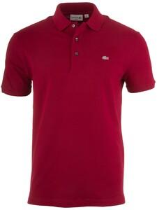 Lacoste Stretch Slim-Fit Mini Piqué Poloshirt Bordeaux Red