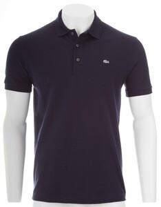 Lacoste Stretch Slim-Fit Mini Piqué Poloshirt Navy Blue