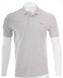 Lacoste Stretch Slim-Fit Mini Piqué Poloshirt Silver Chine