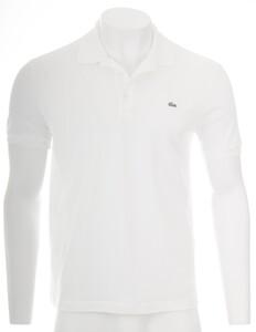 Lacoste Stretch Slim-Fit Mini Piqué Poloshirt White