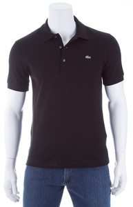 Lacoste Stretch Slim-Fit Polo Polo Zwart