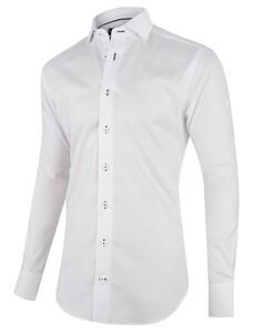 Cavallaro Napoli Affari Shirt Mouwlengte 7 Wit-Navy