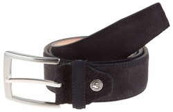 Lindenmann Wide Suede Belt Navy