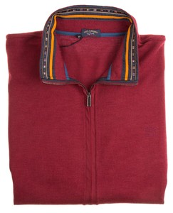 Paul & Shark Flag Contrasted Collar Vest Rood