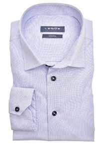 Ledûb Abstract Fine Pattern Overhemd Midden Blauw