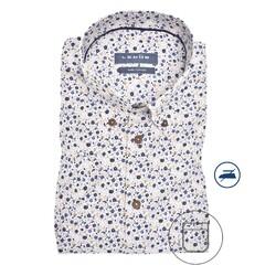 Ledûb Blossom-branch Modern Fit Overhemd Licht Bruin