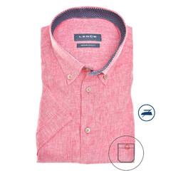 Ledûb Contrasted Linen Modern Fit Overhemd Roze