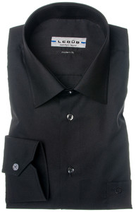 Ledûb Dress Shirt 55-45 Overhemd Zwart
