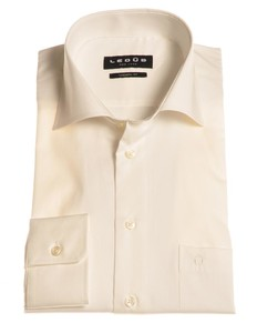 Ledûb Dress-Shirt Non-Iron Overhemd Ecru