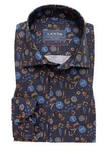 Ledûb Fantasy Floral Mouwlengte 7 Overhemd Navy