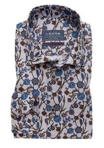 Ledûb Fantasy Floral Overhemd Midden Grijs