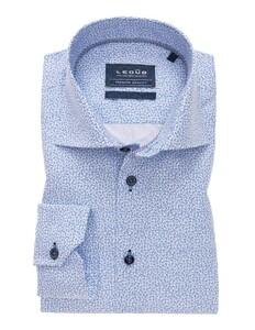 Ledûb Fantasy Mini Anchor Extra Lange Mouw Overhemd Wit-Blauw