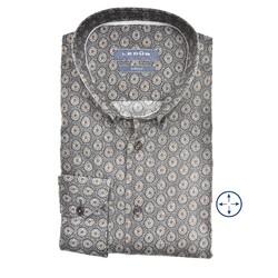 Ledûb Fantasy Modern Fit Overhemd Midden Grijs