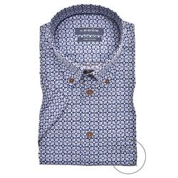 Ledûb Fantasy Tile Modern Fit Overhemd Donker Blauw