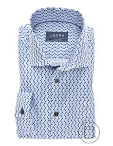 Ledûb Fashion Structure Overhemd Midden Blauw