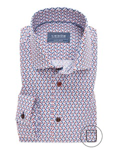 Ledûb Fashion Structure Overhemd Rood