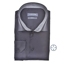 Ledûb Faux Contrast Modern Fit Shirt Navy