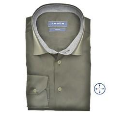 Ledûb Faux Contrast Slim Fit Overhemd Donker Groen