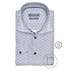 Ledûb Faux Dot Modern Fit Overhemd Midden Blauw