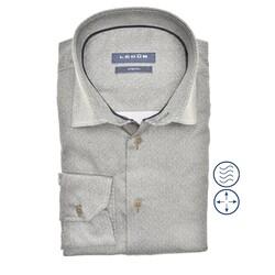 Ledûb Faux Uni Modern Fit Shirt Green