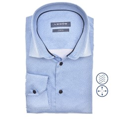 Ledûb Faux Uni Modern Fit Shirt Light Blue