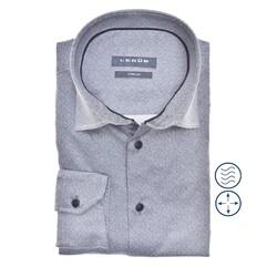 Ledûb Faux Uni Slim Fit Overhemd Midden Blauw