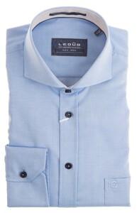 Ledûb Fine Structure Shirt Mid Blue