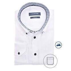 Ledûb Long Sleeve Faux Dot Contrast Modern Fit Shirt White