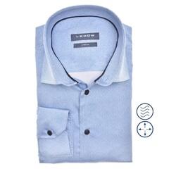 Ledûb Long Sleeve Faux Uni Modern Fit Overhemd Licht Blauw