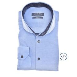 Ledûb Long Sleeve Petal Contrast Slim Fit Overhemd Licht Blauw