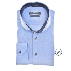 Ledûb Long Sleeve Petal Contrast Slim Fit Shirt Light Blue