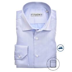 Ledûb Longer Sleeve Modern Fit Overhemd Licht Blauw