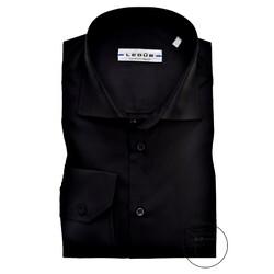 Ledûb Longer Sleeve Modern Fit Overhemd Zwart