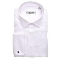 Ledûb Longer Sleeve Smoking Modern Fit Overhemd Wit