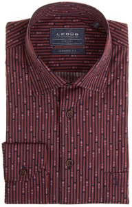Ledûb Modern Car Lane Stripe Shirt Red