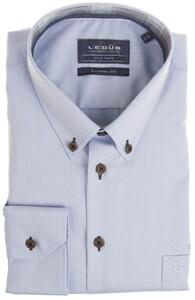 Ledûb Modern Uni Check Contrast Overhemd Licht Blauw