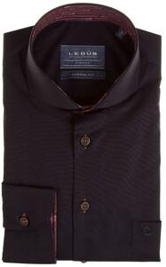 Ledûb Modern Uni Lane Contrast Overhemd Zwart