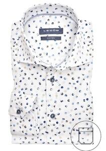 Ledûb Multi Contrast Dot Overhemd Wit-Blauw