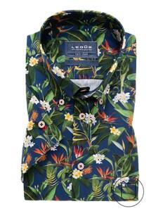 Ledûb Natural Fantasy Overhemd Midden Blauw